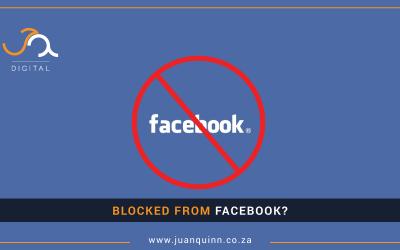 """Facebook blocked me!"""
